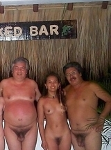 Nudist group pool photos from a private family naturist resort