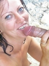 Dissolute nymphomaniac has wild passion brazenly at beach