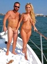 Family nudists under the sun